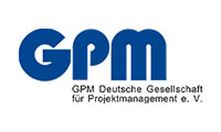 Logo GPM, Deutsche Gesellschaft für Projektmanagement e. V., in der Dörte Bräunche engagiert ist
